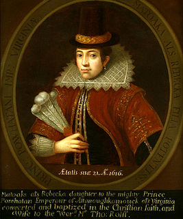 Pocahontas by Unknown, after the 1616 engraving by Simon van de Passe.jpg