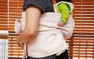 Baby sling - Image: Podaegi (baby sling) 2