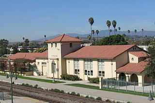 train station in Pomona, California