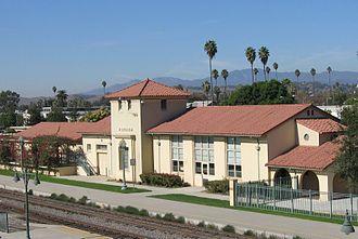 Pomona station (California) - Image: Pomona, CA (SP) Train Station