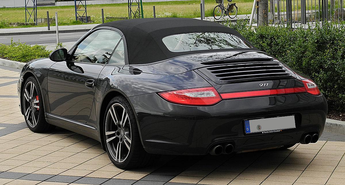 File Porsche 911 Cabriolet Black Edition 997 Facelift Heckansicht 2 Juli 2011 Dusseldorf Jpg Wikipedia