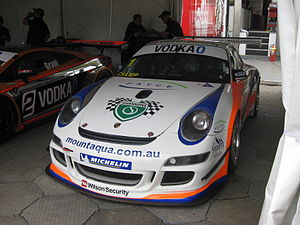 David Wall (racing driver) - The Porsche 911 GT3 Cup Type 997 of David Wall at the opening round of the 2010 Australian GT Championship