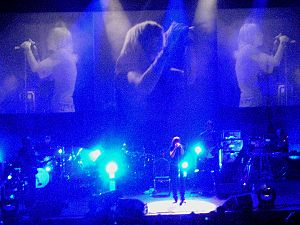 Wolverhampton Civic Hall - Portishead playing live at the venue, 13 April 2008