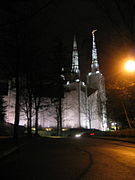 Portland Oregon Temple Night.JPG