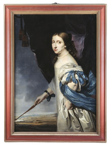 Portrait of Christina; painted in 1661 by Abraham Wuchters. Portratt. Drottning Kristina. Wuchters - Skoklosters slott - 47811.tif