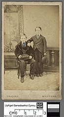 Evan Kenffig Jones (of Nantymoel), with his cousin William Williams