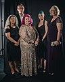 Portrait photoshoot at Worldcon 75, Helsinki, before the Hugo Awards – Judy, Vesa, Spring, Ninni, Rebecca.jpg