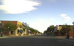Downtown Powell, Wyoming, July 2015