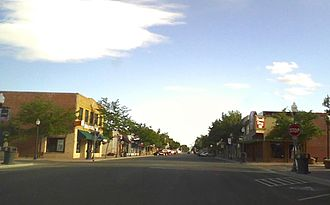 Powell, Wyoming - Downtown Powell, Wyoming, July 2015