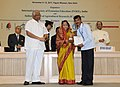 Pratibha Devisingh Patil presenting the INSEE Prof. Dwarakinath Young Innovative Farmer award to Dr. B.V. Rameshkumar, at the International Conference on Innovative Approaches for Agricultural Knowledge Management.jpg