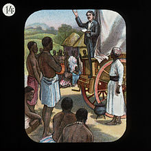Preaching From A Wagon.  Dr Livingstone I Presume Book