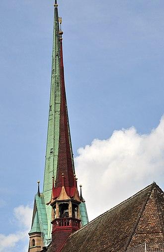 Predigerkirche Zürich - Image: Predigerkirche Künstlergasse 2011 08 10 09 48 22