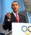 President Barack Obama speaking in Copenhagen to Olympics Committee 10-02-09 (cropped).jpg