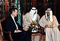 President George H. W. Bush meets with Saudi Arabian King Fahd in Riyadh, Saudi Arabia.jpg