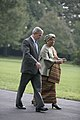 President George W. Bush Walks with Liberian President Ellen Johnson Sirleaf.jpg
