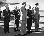 President Harry S. Truman at Hickam Field, Honolulu, Hawaii.jpg