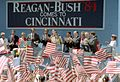 President Reagan during a trip to Cincinnati, Ohio at a Reagan-Bush Rally at Fountain Square.jpg