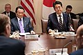Prime Minister Shinzo Abe of Japan Visits the White House (46816306275).jpg