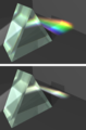 Prisms with high and low dispersion.png