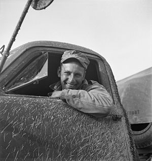 Private Zeno W. Muhl serving with the 429th Engineers as a truck driver