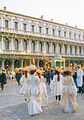 Procuratie Nuove in Piazza San Marco, Venice during carnival Feb 1993.jpg