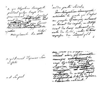 Acte de déchéance de l'Empereur - Manuscript project of the Acte de déchéance de l'Empereur