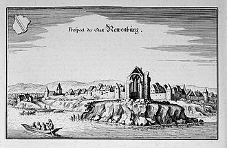 Neuenburg am Rhein - Remnants of the magnificent minster destroyed by the flooding: the choir