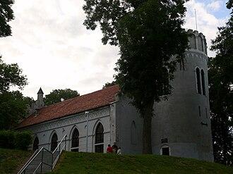 Przedecz - Przedecz Castle and former Protestant church