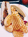 Punta Cana sandwich and waffle fries (12418421484).jpg