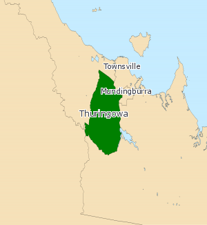 Electoral district of Thuringowa - Electoral map of Thuringowa 2008