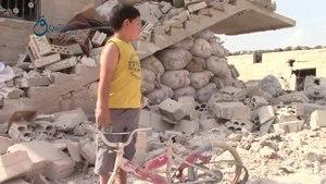 File:Qasioun News- Idlib- Civilians suffer from the russian airstrikes over Tamanaa town 21-10-2015.webm