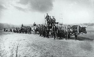 North-West Rebellion - Troops on the march, North West Rebellion, Qu'Appelle Valley, 1885