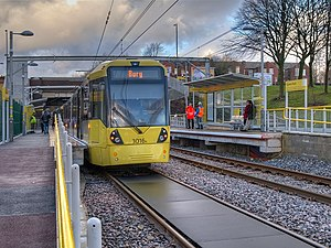 Queens Road tram stop - Image: Queens Road Metrolink station