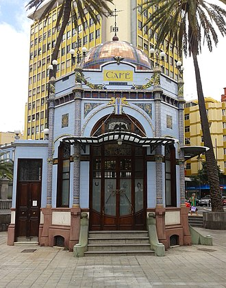 Kiosk - Late Art Nouveau kiosk (1923) in Las Palmas de Gran Canaria.