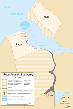 Rabat-Salé, where the republic was located