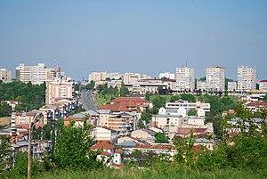 Slatina, Romania - Image: RO OT Slatina center from Gradiste hill 1