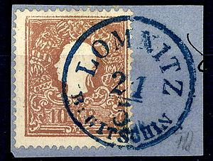 Lomnice nad Popelkou - 10 kreuzer in 1859 - Lomnitz bei Gitschin
