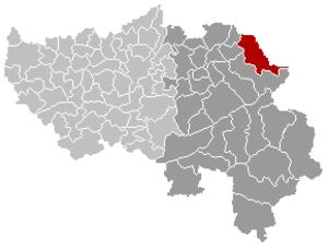 Raeren - Image: Raeren Liège Belgium Map