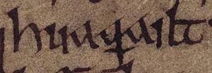 Ragnall mac Gofraid - Image: Ragnall mac Gofraid (Oxford Bodleian Library MS Rawlinson B 503, folio 20r)