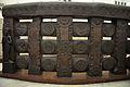 Railing - 2nd Century BCE - Red Sand Stone - Bharhut Stupa - Madhya Pradesh - Indian Museum - Kolkata 2012-11-16 1860.JPG