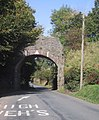 Railway bridge (track dismantled) north of Exbridge - geograph.org.uk - 1534651.jpg