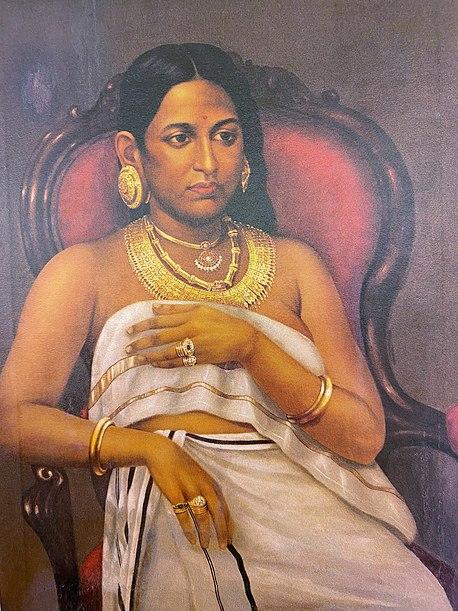 File:Raja Ravi Varma, Bharani Thirunal Rani Parvathi Bayi.jpg
