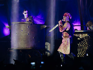 "Mein Teil - Lorenz (in left) and Till Lindemann during ""Mein Teil""."