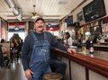 Ray Vertovec, a longtime livestock farmer turned tavern owner, stands at the bar at Eiler's Place, a popular watering hole in the Pueblo, Colorado, neighborhood LCCN2015632688.tif