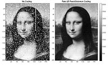 Reed–Solomon error correction Mona Lisa LroLrLasercomFig4.jpg
