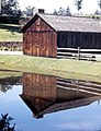 Reflected Barn, Stanley Park, Springfield, MA 1974 (6473436455).jpg