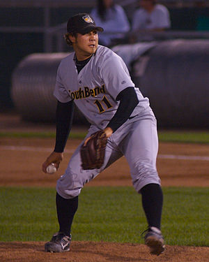 South Bend Cubs - Reid Mahon with the Silver Hawks in 2007