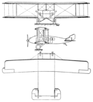 Remington-Burnelli Airliner 3-view Les Ailes December 15,1921.png