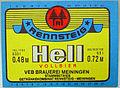 Rennsteig Hell Vollbier, VEB GK Rennsteig-Meiningen Werk Meiningen Etikett (DDR).jpg