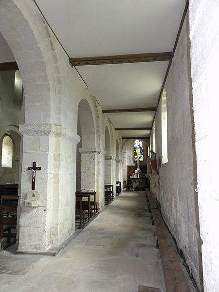 Ressons-le-Long (Aisne) église, vaisseau latéral